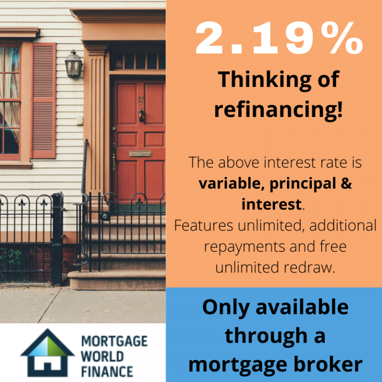 Refinancing home loan product